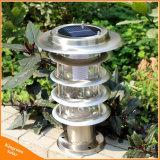 LED de plein air en acier inoxydable Lawm Lampe Solaire de Jardin