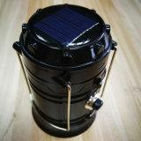 Linterna que acampa portable recargable de la batería solar