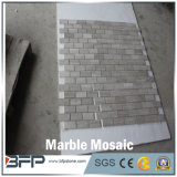 内部の床デザインのための自然な磨かれた白い大理石のモザイク