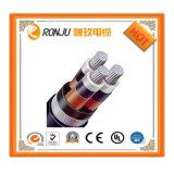 3 cable de transmisión de la envoltura del PVC del aislante de la baja tensión XLPE de las memorias, venta del alambre eléctrico para la iluminación al aire libre