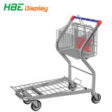 Plataforma de metal de supermercado Carrinho de carga do armazém