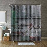 Repelente de água / Míldio Poliéster Impresso Personalizado Gratuito a cortina do chuveiro