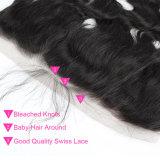 Chiusura brasiliana del Frontal del merletto dei capelli del Virgin di prezzi di fabbrica
