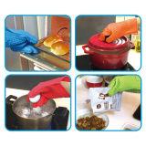 ТеплостойкnSs варящ 5 перчаток силикона печи перста для кухни