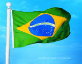 Kundenspezifisches Sunproof und wasserdichte Staatsflagge-Brasilien-Markierungsfahne