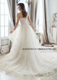 A - linha vestidos de casamento Strapless do querido de Tulle do laço do vestido nupcial 2018 Bd51