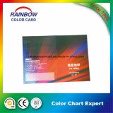 Catalogue de carte estampé personnalisé de couleur de papier