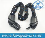 ライト(YH1809)が付いている5ディジットの組合せ番号バイクの鎖ロックの自転車ロック