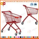 Металлический супермаркет бакалеи компакта провода регулируя вагонетку магазинной тележкаи (Zht208)