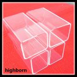 Tubo di vetro libero del silicone fuso di rettangolo