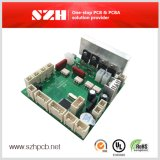 Ensamblaje de placa de circuito impreso Fr4 de doble cara con tinta verde