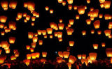 Papier de haute qualité ciel OEM souhaitant Lanterne lumière