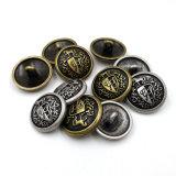 Boutons de partie lisse de couture en métal de regard de cru pour des uniformes