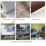 Hechas a mano de pintura al óleo de los animales conejos doble para la decoración del hogar