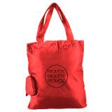 Etiqueta do logotipo personalizado Moda Reutilizável Sacola de Compras de tecido de nylon dobrável