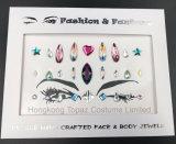 Стикеры самоцветов глаза стикеров Tattoo тела драгоценности Rhinestone самоцветов состава стороны партии празднества яркия блеска для инструментов украшения состава (S025)