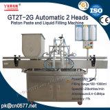 Automatische het Vullen van de Saus van de Zuiger van 2 Hoofden Dikke Machine met zich het Mengen voor Schoonheidsmiddel (GT2T-2G)