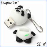 Carte mémoire Memory Stick du panda USB avec le porte-clés (XH-USB-176)