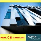 Revêtement en aluminium de façades de panneaux de mur en métal avec la configuration de couleur