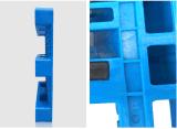 1100*1100*155mm de HDPE Bandeja de plástico para serviço pesado de armazenagem do depósito 4 Caminho de paletes do carregamento de paletes plásticos de grade com 3 calhas (ZG-1111B 8 aço)