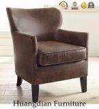 حديثة يعيش غرفة أثاث لازم رماديّة جلد نبضة كرسي تثبيت كرسي ذو ذراعين ([هد532])