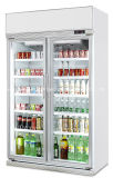 Три стеклянные двери напиток дисплей холодильник с маркировкой CE