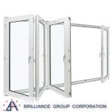 Portello Bi-Piegante di alluminio del metallo per uso del balcone