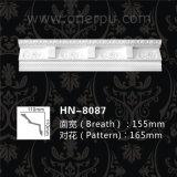 Moldeados decorativos de la cornisa del dentículo de la PU para la decoración casera Hn-8087
