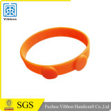 Подгонянный Wristband силикона с логосом Debossed или напечатано или выбито