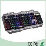 金属デザイン多彩なLEDバックライトのコンピュータの機械賭博キーボード(KB-906EL-C)