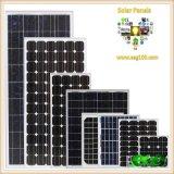 panneau monocristallin d'énergie solaire des piles 80W solaires