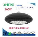 Aleación de aluminio popular ligera de la bahía LED del UFO de la dimensión de una variable redonda alta