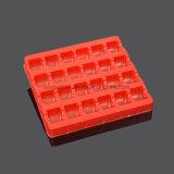 Bandeja roja del PVC de la aduana del fabricante para el regalo del chocolate