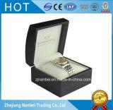 Doos Van uitstekende kwaliteit van de Gift van de douane de Zwarte Houten voor Horloge