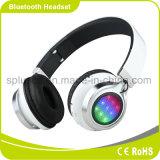 Cuffia chiara poco costosa di vendita superiore della cuffia LED di Bluetooth con la radio per il telefono mobile astuto