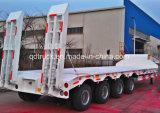 China maakte tot 3 Assen 60tons Op zwaar werk berekende Lowbed Semi Aanhangwagen