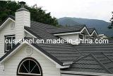 Brique de toit métallique en pierre revêtue de pierre colorée et en pierre