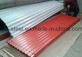 Strato rivestito ondulato del tetto del metallo di basso costo per la struttura d'acciaio