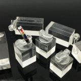 Canalisation verticale acrylique de boucle de bijou de présentoir de cube
