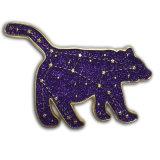 Pin отворотом яркия блеска изготовленный на заказ металла фабрики животный