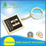 Het Zwarte Metaal Keychain van de douane met Gouden Grens met Uitstekende kwaliteit