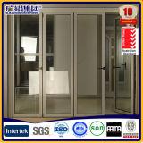 Aluminiumpatio-Doppelt-Glas, das Falz-Tür-Aluminiumfalz-Türen schiebt