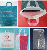 A correção de programa biodegradável de pano do LDPE do HDPE carreg o saco de plástico da compra que faz o preço da máquina