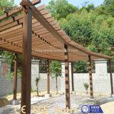 Pergola esterno personalizzato di legno del giardino WPC di stile cinese