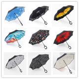 Изготовленный на заказ напольный зонтик гольфа двойного слоя перевернутый