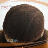 Perucas judaicas superiores de seda de Sheitel do cabelo humano da cor de 100% Brown escuro #6/#8/#4
