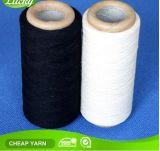 Пряжа перчатки хлопка Nm10s-Nm20s в сырцовых белых и черных цветах