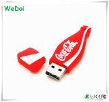 Botella de cocacola de dibujos animados memoria USB con 1 años de garantía (WY-PV63).