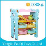 Fabrik geben direkt Qualitäts-Satz-Rahmen-Plastikkind-Spielwaren-Speicher-Zahnstangen-Kind-Karton-Spielzeug-Organisator-Speicher-Regal-Speicher-Zahnstange mit Ablagekasten an