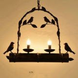 Lámpara pendiente única creativa industrial de la decoración de la barra de café del pájaro de la vendimia